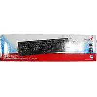 Беспроводная клавиатура Genius SlimStar 8000ME+ мышка USB (черный)