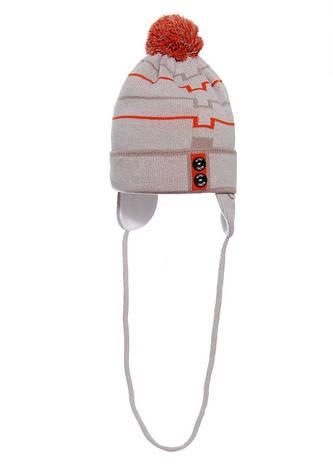 Детская теплая вязаная шапочка для мальчика ACHTI Польша, фото 2