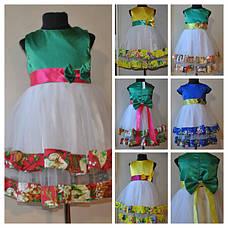 Нарядное платье для девочек Мимоза Синее, фото 2