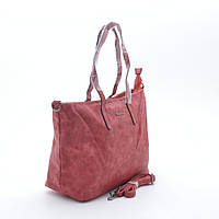 Женская красная сумка шоппер L. Pigeon