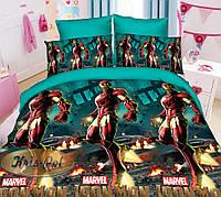 Детское постельное бельё Супермен Марвел 150*220 хлопок (6851) TM KRISPOL Украина