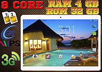 Мощный планшет Lenovo A107, 8 core, 10'', 4Gb RAM / 32 Gb Rom, GPS, 2 sim, чехол