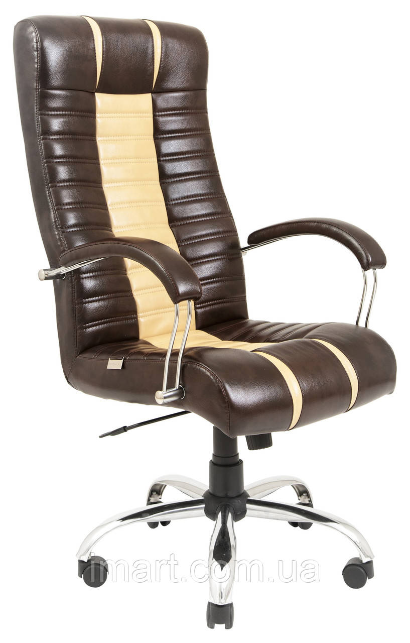 Купить Кресло для руководителя Атлант хром к/з Флай/Неаполь, Richman