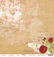 Лист односторонней бумаги 30x30 от Scrapmir Цветы из коллекции Любовь