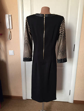 Платье женское деловое нарядное черное длинный рукав Rinascimento, фото 2