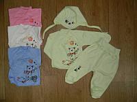 Комплект одежды  для новорожденного в роддом на выпискy (распашонка+ползунки+чепчик)