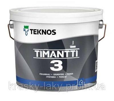 Грунт-краска Timantti 3 Teknos противоплесневая Тимантти, 9л.