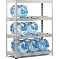 Стеллаж металлический для воды SB 125 (ВхШхГ - 1250х1000x420) 4полки