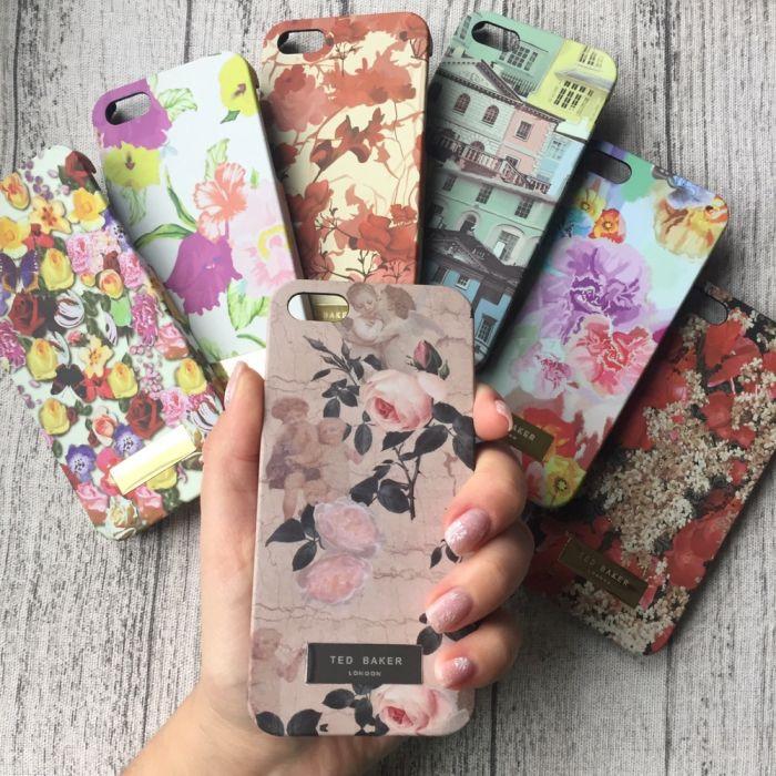 Пластиковый чехол c цветочный рисунок на iPhone 5/5s/SE
