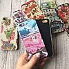 Пластиковый чехол c цветочный рисунок на iPhone 5/5s/SE, фото 4
