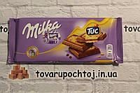 Шоколад Milka Tuc з солоним печивом