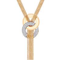 Ожерелье колье Пандора Горный хрусталь цвет золото