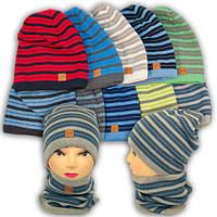 Вязаная шапка с хомутом, для мальчика, 1227 LOGAN