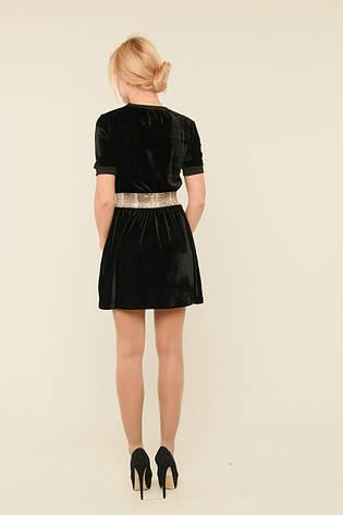 Короткое бархатное платье Хлоя, фото 2