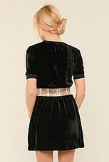 Короткое бархатное платье Хлоя, фото 3