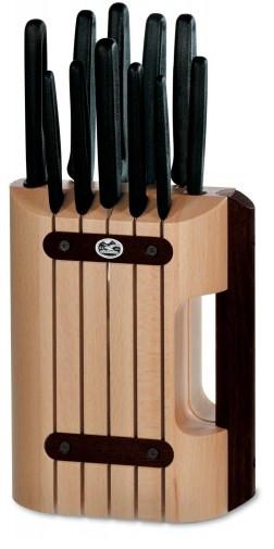 """Набор из 11 предметов Victorinox (8 ножей,точило """"Victorinox"""") на деревянной подставке 5.1153.11."""