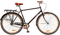 """Велосипед 28"""" Dorozhnik COMFORT MALE 14G Velosteel St черный (м) с багажником  2016"""