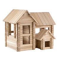 Детский деревянный конструктор Коттедж 4 в 1 (206 деталей Игротеко)