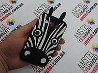 Объемный 3D силиконовый чехол для Samsung Galaxy Win i8552 i8550 Зебра