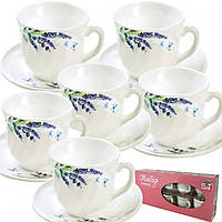 """Чайный набор S&T 12 предметов """"лаванда"""""""
