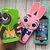 Силиконовый чехол с животными для iPhone 6plus/6sPlus, фото 2