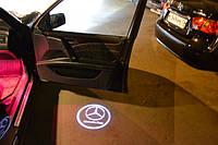 Врезные проекторы логотипа в двери