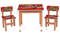 """Деревянный столик с двумя стульчиками """"Тачки"""" F193"""