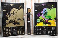 Скретч карта MyMap My Map Europe Black edition (англ. язык)