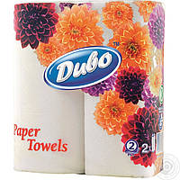 Диво полотенца бумажные в рулоне, 2шт/уп