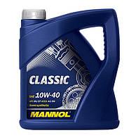 Полусинтетическое Моторное Масло (полусинтетика) MANNOL  Classic (МАНОЛ) 10w40 4 л