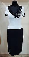 Платье нарядное черно-белое Filippe Carat (Франция)