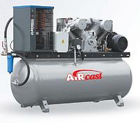 Компрессор Aircast с горизонтальным ресивером и осушителем воздуха холодильного типа СБ4/Ф-500.LT 100Д