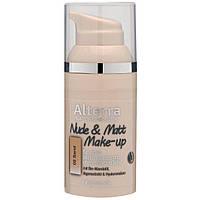 Alterra Nude & Matt Make-up -  Легкий прозрачный матирующий тональный крем, 30 мл, оттенок 02 Sand