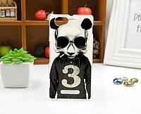 Силиконовый чехол для Sony Xperia M c1905 с картинкой панда с цифрой три