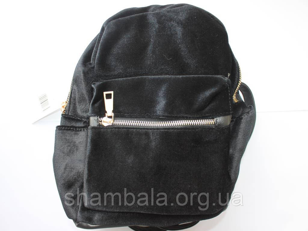 Рюкзак велюровый
