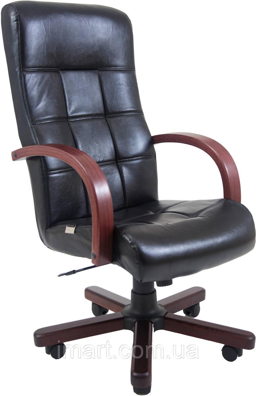Кресло для руководителя Вирджиния вуд Кожа  комбинированная
