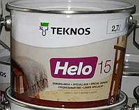 Лак HELO 15 40 90 TEKNOS уретано-алкидный, 9л.
