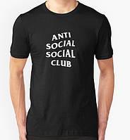 Футболка с принтом асск лого   Anti Social social club