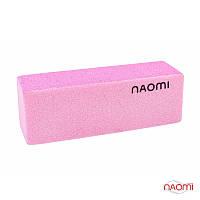 Баф для ногтей Naomi 100/180 (розовый)