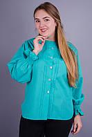 Сангрия. Женская блуза больших размеров. Мята., фото 1