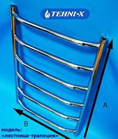 Водяной полотенцесушитель Tehni-x Трапеция высота 150 см, межосевое расстояние 50