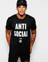 Футболка черная с принтом A.S.S.C.| Anti Social social club