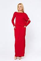 Интересное длинное платье Соледад красное