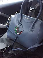 Стильная женская сумка реплика GIVENCHY натуральная кожа, качество люкс. Цвет голубой