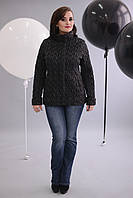 Нарядная стеганная  куртка Демисезон Большие размеры