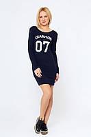 Женское платье из мягкой вискозы Круз темно-синее