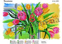 Схема для вышивки бисером ЮМА-4385. ТЮЛЬПАНЫ