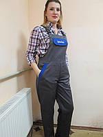 Полукомбинезон рабочий,  спецодежда демисезонная, рабочая одежда женская