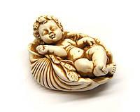 Фигурка Ангелочек в ракушке из гипса