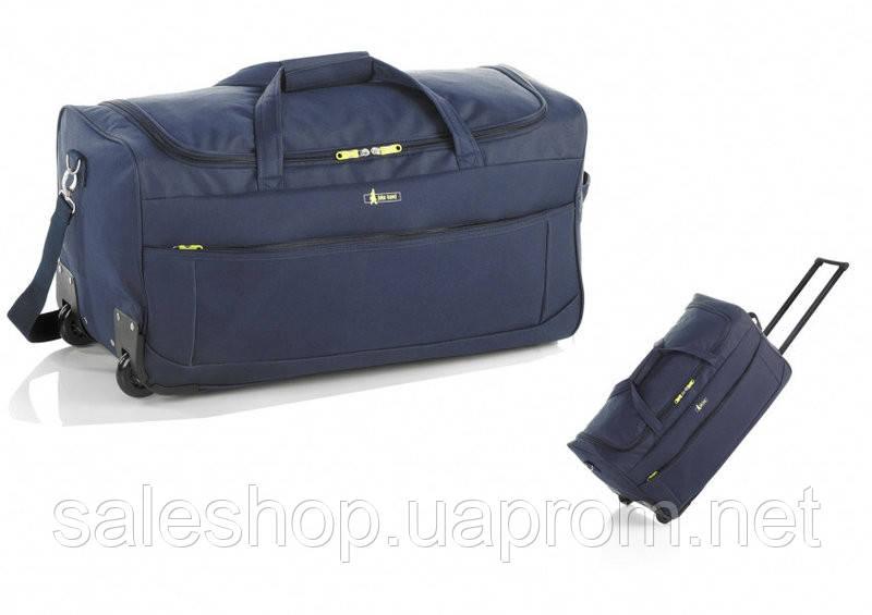 2cb4056d7678 Дорожная - спортивная сумка на колесах: средняя, John Travel M - 7568, синяя